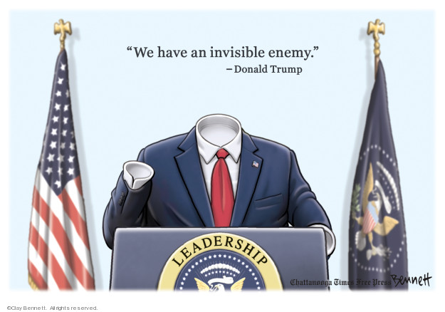 Cartoonist Clay Bennett  Clay Bennett's Editorial Cartoons 2020-04-05 editorial