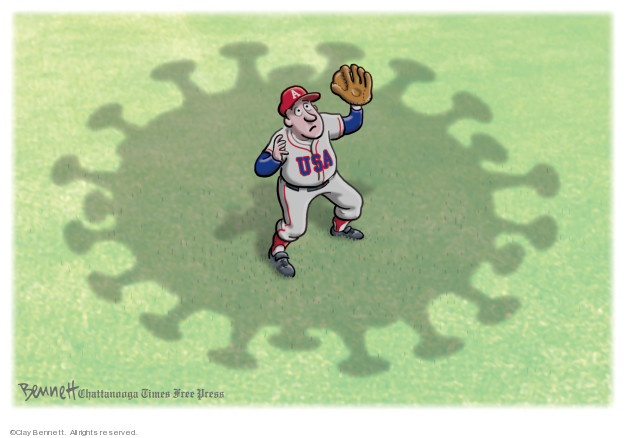 Cartoonist Clay Bennett  Clay Bennett's Editorial Cartoons 2020-04-10 editorial