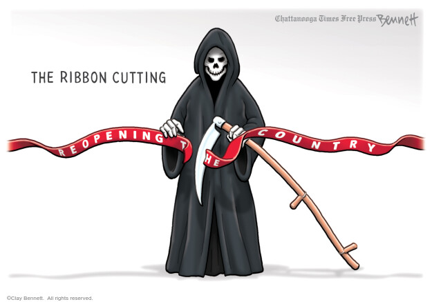 Cartoonist Clay Bennett  Clay Bennett's Editorial Cartoons 2020-04-14 editorial
