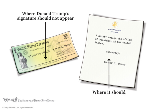 Cartoonist Clay Bennett  Clay Bennett's Editorial Cartoons 2020-04-17 Presidency