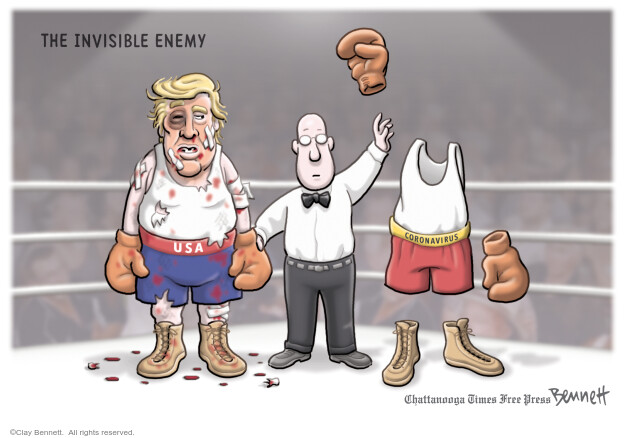 Cartoonist Clay Bennett  Clay Bennett's Editorial Cartoons 2020-04-19 Donald Trump