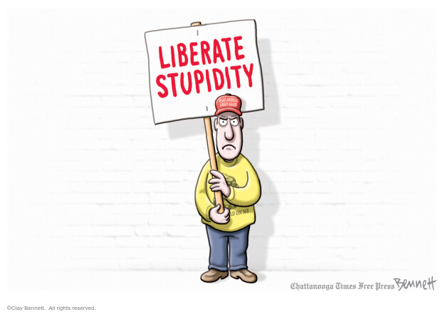 Cartoonist Clay Bennett  Clay Bennett's Editorial Cartoons 2020-04-21 Donald Trump