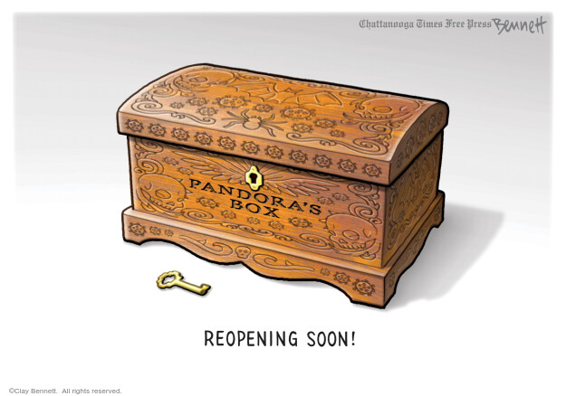 Cartoonist Clay Bennett  Clay Bennett's Editorial Cartoons 2020-04-22 editorial