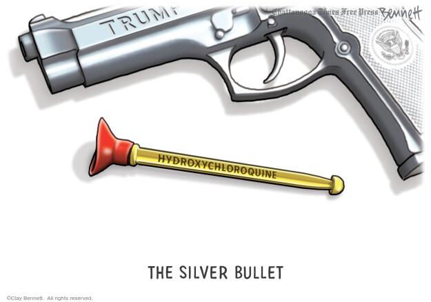Cartoonist Clay Bennett  Clay Bennett's Editorial Cartoons 2020-04-24 Donald Trump