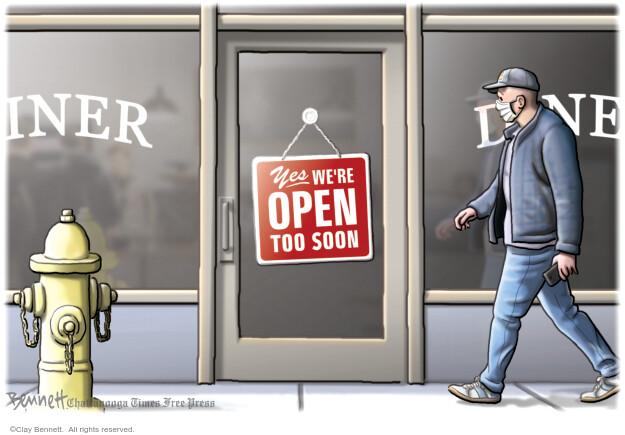 Cartoonist Clay Bennett  Clay Bennett's Editorial Cartoons 2020-04-28 editorial