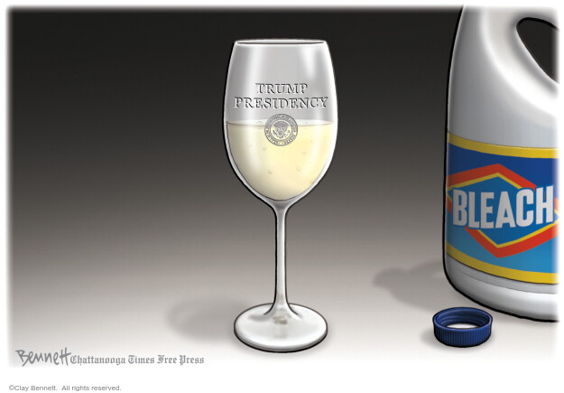 Cartoonist Clay Bennett  Clay Bennett's Editorial Cartoons 2020-04-29 Donald Trump
