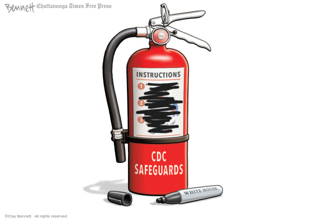 Cartoonist Clay Bennett  Clay Bennett's Editorial Cartoons 2020-05-09 Donald Trump