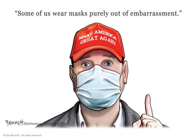 Cartoonist Clay Bennett  Clay Bennett's Editorial Cartoons 2020-05-13 Donald Trump