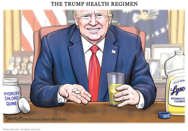 Cartoonist Clay Bennett  Clay Bennett's Editorial Cartoons 2020-05-20 Donald Trump