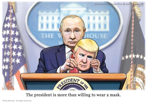 Cartoonist Clay Bennett  Clay Bennett's Editorial Cartoons 2020-05-23 Donald Trump
