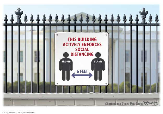 Cartoonist Clay Bennett  Clay Bennett's Editorial Cartoons 2020-05-27 Donald Trump