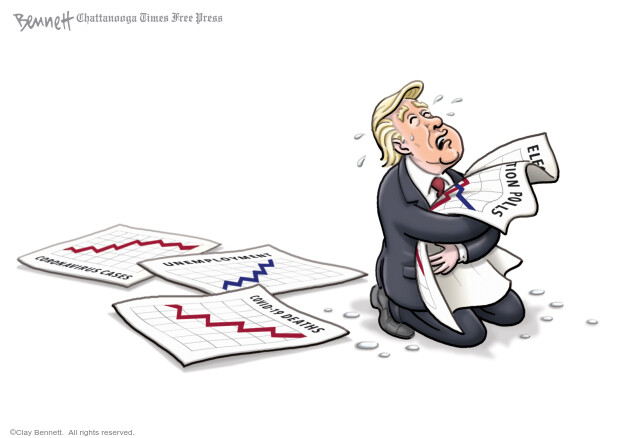 Cartoonist Clay Bennett  Clay Bennett's Editorial Cartoons 2020-05-31 Donald Trump