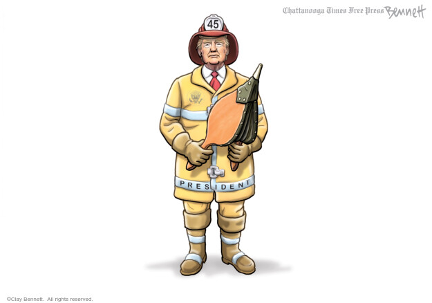 Cartoonist Clay Bennett  Clay Bennett's Editorial Cartoons 2020-05-30 Donald Trump
