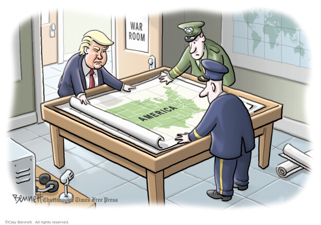 Cartoonist Clay Bennett  Clay Bennett's Editorial Cartoons 2020-06-03 Donald Trump