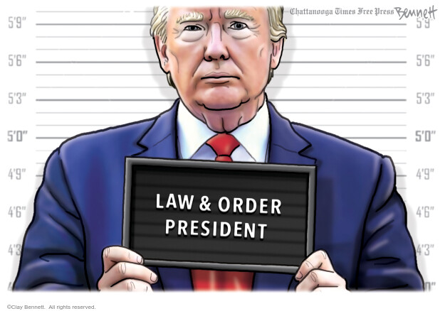 Cartoonist Clay Bennett  Clay Bennett's Editorial Cartoons 2020-06-09 Black Lives Matter