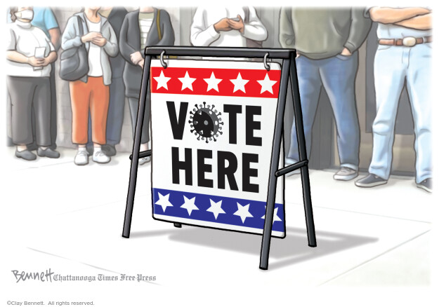 Cartoonist Clay Bennett  Clay Bennett's Editorial Cartoons 2020-06-10 vote