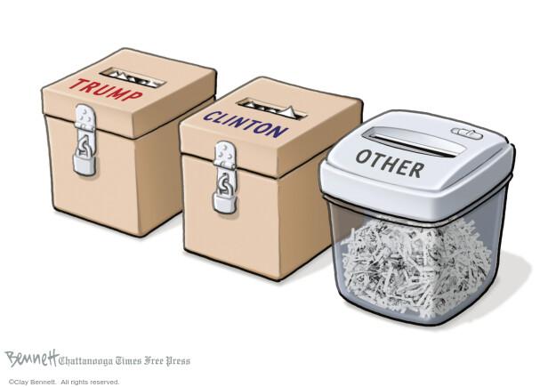 Cartoonist Clay Bennett  Clay Bennett's Editorial Cartoons 2016-07-27 Republican voter
