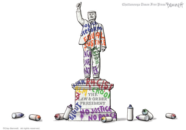 Cartoonist Clay Bennett  Clay Bennett's Editorial Cartoons 2020-07-07 Black Lives Matter