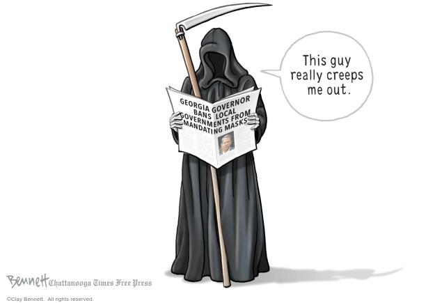 Clay Bennett  Clay Bennett's Editorial Cartoons 2020-07-17 coronavirus