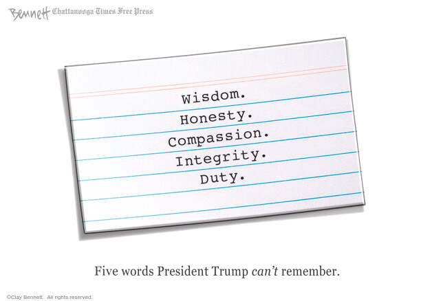 Clay Bennett  Clay Bennett's Editorial Cartoons 2020-07-28 presidential administration