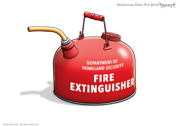 Clay Bennett  Clay Bennett's Editorial Cartoons 2020-07-29 security