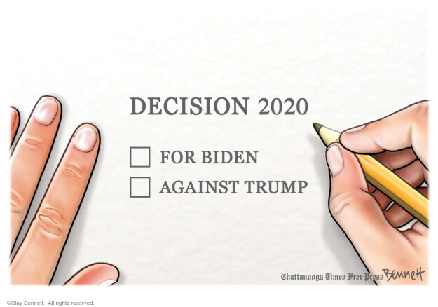 Clay Bennett  Clay Bennett's Editorial Cartoons 2020-08-08 presidential election