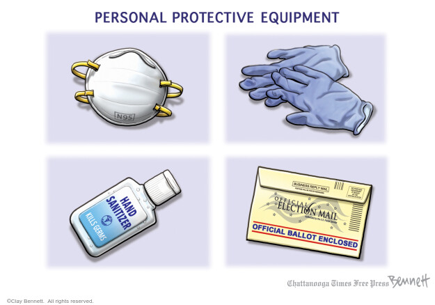 Clay Bennett  Clay Bennett's Editorial Cartoons 2020-08-11 coronavirus
