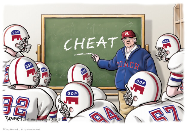 Clay Bennett  Clay Bennett's Editorial Cartoons 2020-08-23 Donald Trump Republicans