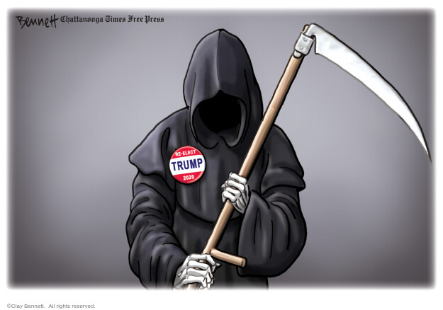 Clay Bennett  Clay Bennett's Editorial Cartoons 2020-09-15 coronavirus