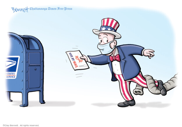 Clay Bennett  Clay Bennett's Editorial Cartoons 2020-10-13 voter suppression