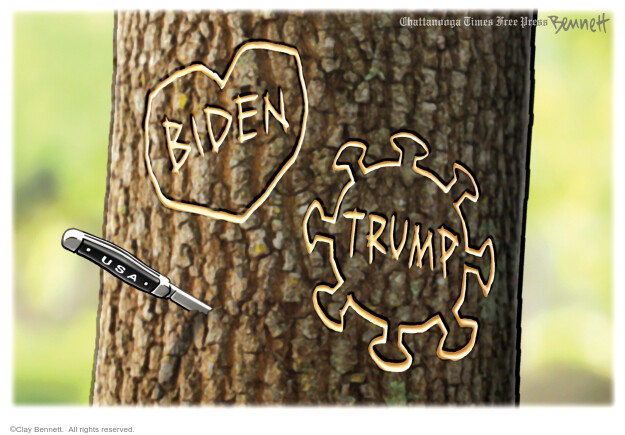 Clay Bennett  Clay Bennett's Editorial Cartoons 2020-10-20 Corona