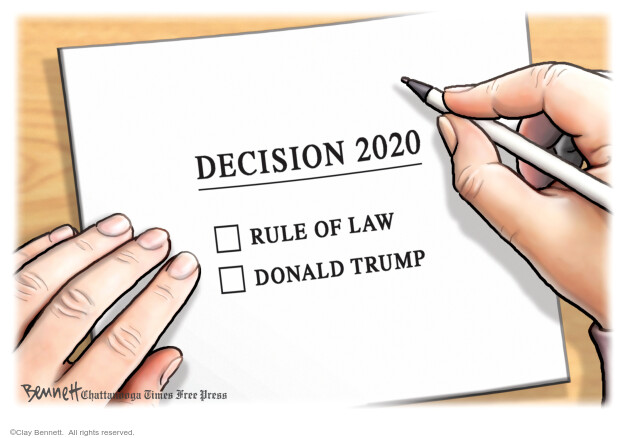 Clay Bennett  Clay Bennett's Editorial Cartoons 2020-10-25 Donald Trump