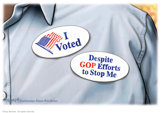 Clay Bennett  Clay Bennett's Editorial Cartoons 2020-10-30 voter suppression
