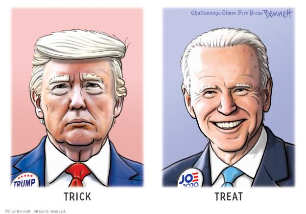 Clay Bennett  Clay Bennett's Editorial Cartoons 2020-11-01 2020 election candidate