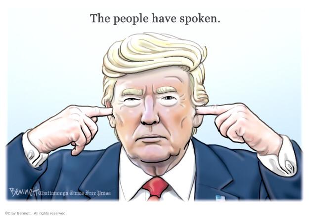 Clay Bennett  Clay Bennett's Editorial Cartoons 2020-11-06 Donald Trump