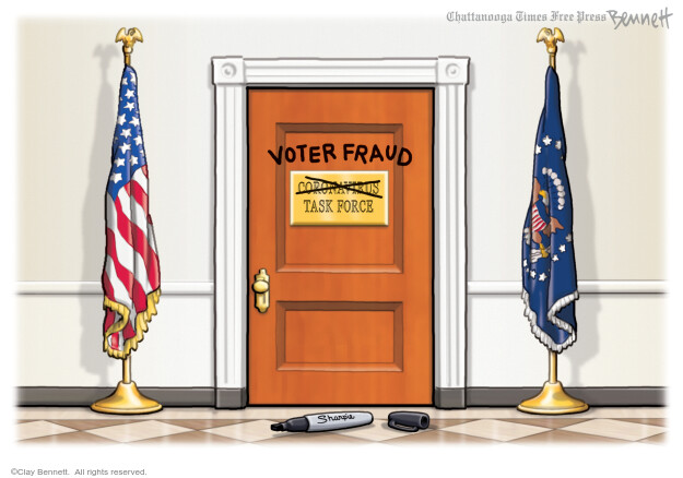 Clay Bennett  Clay Bennett's Editorial Cartoons 2020-11-14 voter fraud