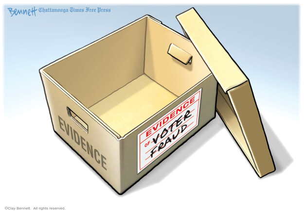 Clay Bennett  Clay Bennett's Editorial Cartoons 2020-11-20 voter fraud