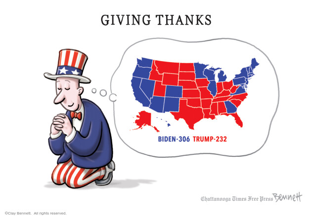 Clay Bennett  Clay Bennett's Editorial Cartoons 2020-11-24 Donald Trump Joe Biden