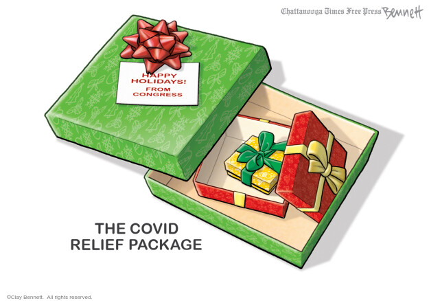 Clay Bennett  Clay Bennett's Editorial Cartoons 2020-12-22 illness