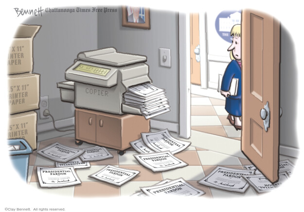 Clay Bennett  Clay Bennett's Editorial Cartoons 2020-12-24 Donald Trump