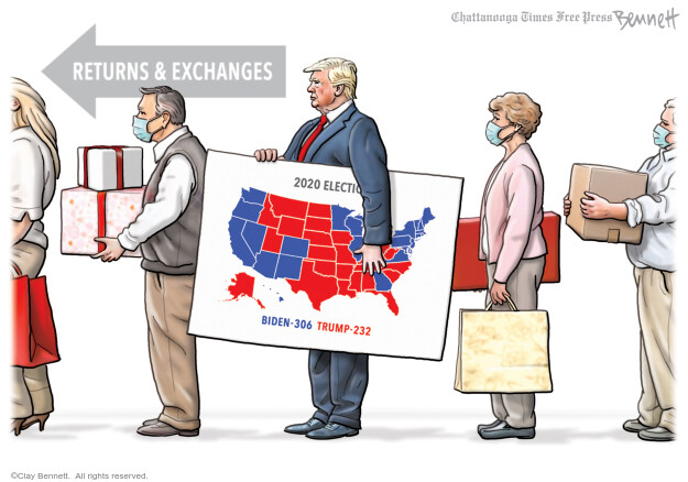 Clay Bennett  Clay Bennett's Editorial Cartoons 2020-12-26 Donald Trump Joe Biden
