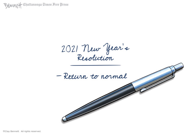 Clay Bennett  Clay Bennett's Editorial Cartoons 2020-12-30 Corona