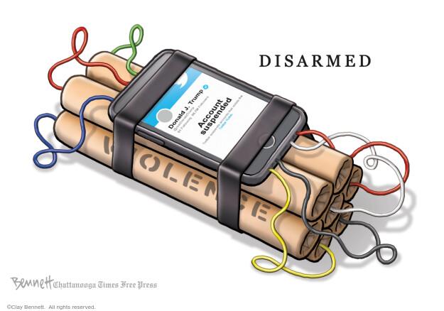Clay Bennett  Clay Bennett's Editorial Cartoons 2021-01-12 editorial