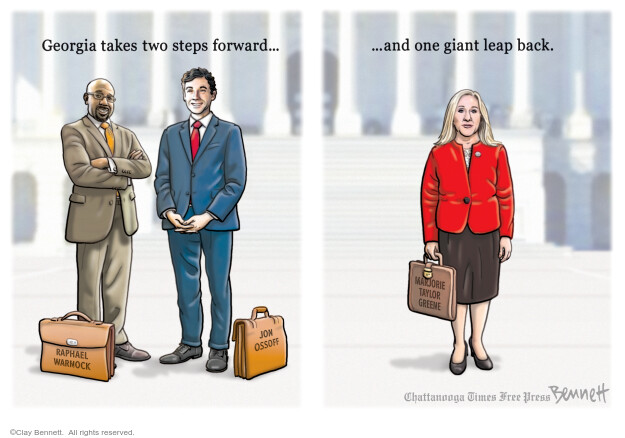Clay Bennett  Clay Bennett's Editorial Cartoons 2021-01-30 vote