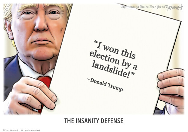 Clay Bennett  Clay Bennett's Editorial Cartoons 2021-02-09 2020 election Donald Trump