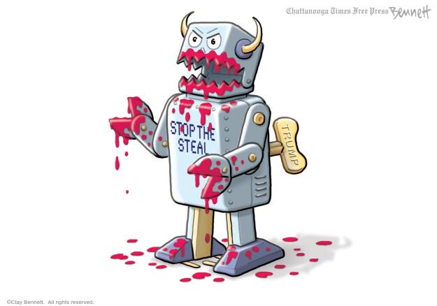 Clay Bennett  Clay Bennett's Editorial Cartoons 2021-02-13 president