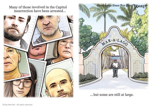 Clay Bennett  Clay Bennett's Editorial Cartoons 2021-02-24 Donald Trump