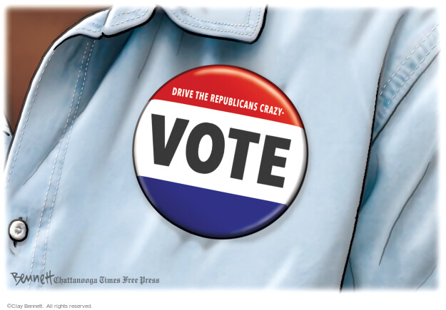 Clay Bennett  Clay Bennett's Editorial Cartoons 2021-03-02 voting rights