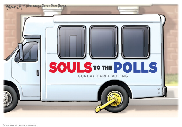 Clay Bennett  Clay Bennett's Editorial Cartoons 2021-03-09 voting rights
