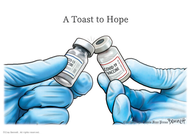 Clay Bennett  Clay Bennett's Editorial Cartoons 2021-03-23 COVID vaccine
